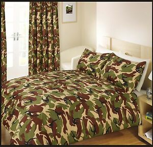 Luxury Army Camouflage Design Bedding Single Duvet Quilt Cover Pillowcase Set