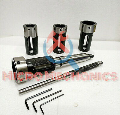 Lathe Tailstock Die Holder Set Of 4 Floating Type Mt 3 Shank Holds Imperial Die