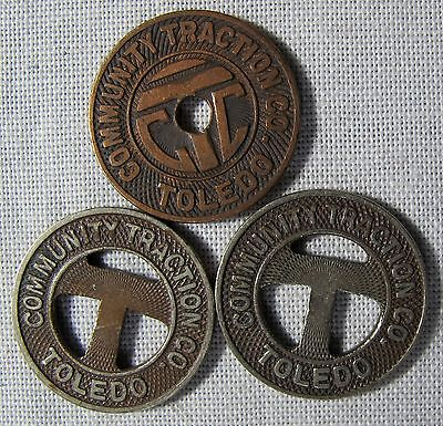 Toledo Ohio Transit Tokens Collection of 3 Different Versions whotoldya Lot 7317