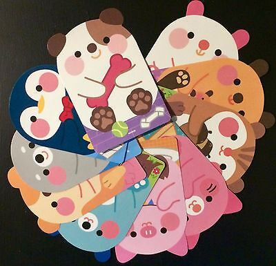 Cute Animal Postcard Set - Kawaii Korean Stationery - letter writing paper