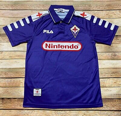 Fila FIORENTINA Jersey Vtg 1998-1999 Italian Soccer ITALY Retro NINTENDO Small image