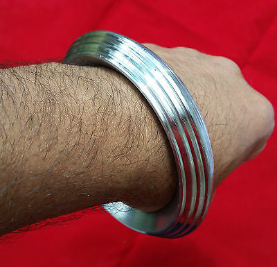 Extra Thick Seven Lines SARBLOH STEEL Pure Iron Sikh Singh Khalsa Heavy Kara A5