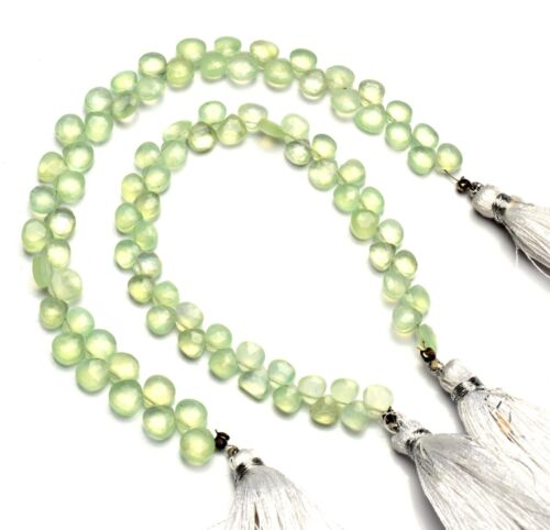 """Natural Gem Prehnite Faceted 5mm Approx. Size Heart Shape Beads Strand 6"""""""