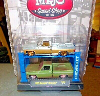 M2 Chevrolet Silverado 1975 Auto-Lifts Mijo Speed Shop 1/64 SUPER CHASE RAW