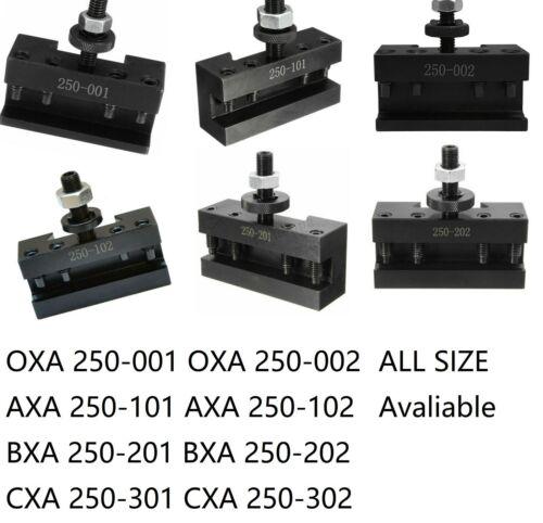 250-001-002-101-102-201-202 Quick Change Turning Facing Lathe Tool Post Holder