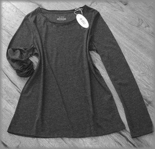 NEU! 20€ – Esprit Shirt edgy Style Longsleeve Anthrazit Grau XXL 44