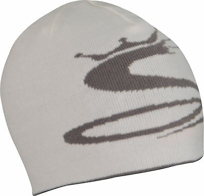fcd643ec6ed Cobra Reversible Golf Beanie White Grey Mens Womens Winter Knit Hat