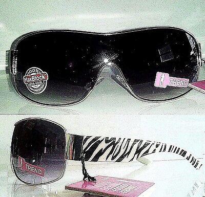 Foster Grant Womens Black White Chrome Large Lens Aviator Sunglasses MSRP:$20 Chrome Womens Sunglasses