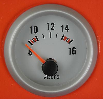 S4 52mm Volt Meter-Voltage gauge Blue bk-light Fiat Uno Punto Cupe Brava Bravo