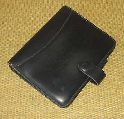 Compact Franklin Coveyquest Black Leather 1 Rings Open Plannerbinder