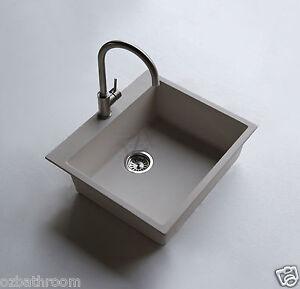 White Laundry Trough : ... STOCK-white-Cube-Square-QUARTZ-stone-kitchen-sink-basin-Laundry-trough