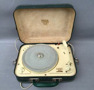 ancien tourne disque teppaz eco pic up vintage french antique turntable ebay. Black Bedroom Furniture Sets. Home Design Ideas