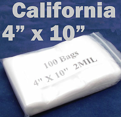 100 X Reclosable 4 X 10 Zip Bags Clear Poly Plastic Lock Able 10 X 26 Cm Zippy