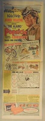 """John Wayne """"The Alamo Popsicle Contest"""" from 1960 Size: 7.5 x 22 inches"""