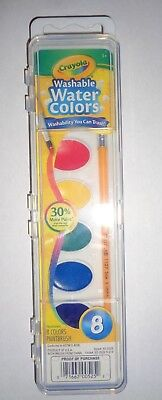 - Crayola® Washable Watercolor Set With Brush, Assorted Colors