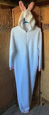 Women's or ladies cute fluffy rabbit jumpsuit all in one piece zip up size 12/14 ()