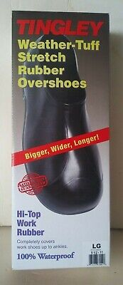 Tingley Weather-tuff Stretch Rubber Overshoes Hi-top Work Rubber Size Large