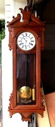 NO RESERVE - ANSONIA PROMPT WEIGHT DRIVEN WALL REGULATOR CLOCK, ca. 1895