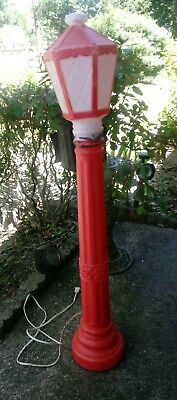 Vintage 40'' Christmas Lantern Lamp Post Blow Mold Light. Pre - Owned