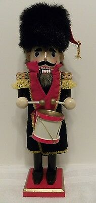 "All Wood Drummer Nutcracker 15"" Inches Tall Holiday Wood Decoration"