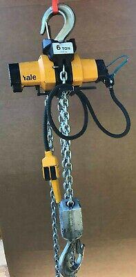 Yale Coffing 6-ton Pneumatic Hoist 12000 10 Lift Chain Hoist Air 12000lb