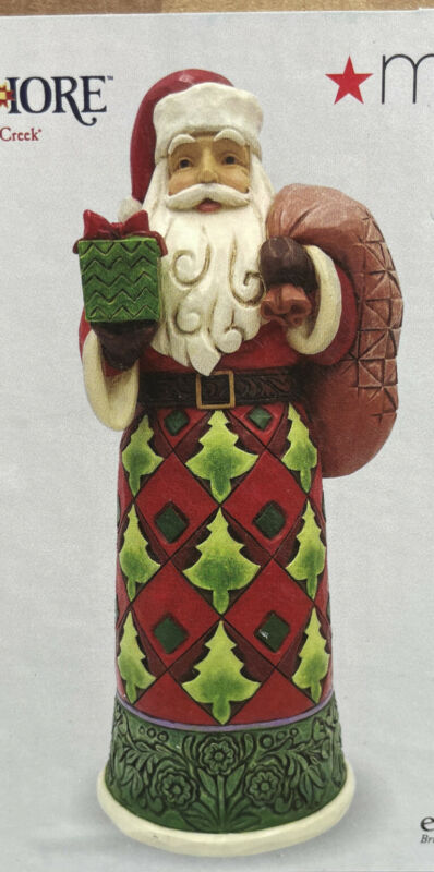 """Jim Shore """" In Giving, We Receive"""" Santa With Toybag • Folk-Art Style Santa•2020"""