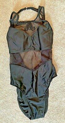 Jantzen, Black, Part Mesh Effect, Black Swimsuit, Size 10