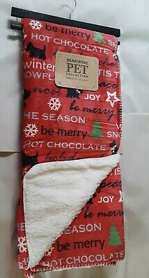 New Berkshire Pet Collection Christmas Large Dog Blanket Throw