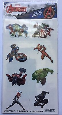 8 Marvel The Avengers Tattoos Party Favor Teacher Supply - Ironman Hulk Thor - Hulk Party Favors