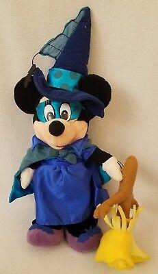 """Halloween MINNIE MOUSE Witch 18"""" Plush Doll Fantasia Broom Disney Spider comprar usado  Enviando para Brazil"""
