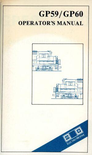 RR GP59/60 Operating Manual