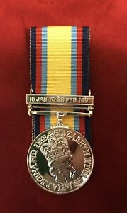 FULL SIZE GULF MEDAL 1991 MEDAL WITH DATE CLASP COPY- COMES WITH 10