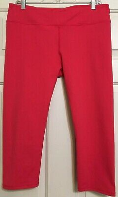 Fabletics size L pink athletic crop fitted leggings women's
