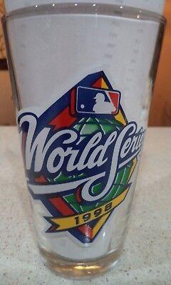 New York Yankees San Diego Padres 1998 World Series Budweiser Pint Glass New Glasses San Diego