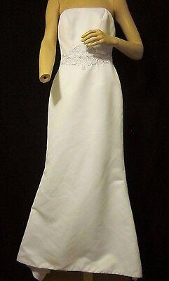 davids bridal galina wedding dress sz 4 white silver s8399 strapless davids