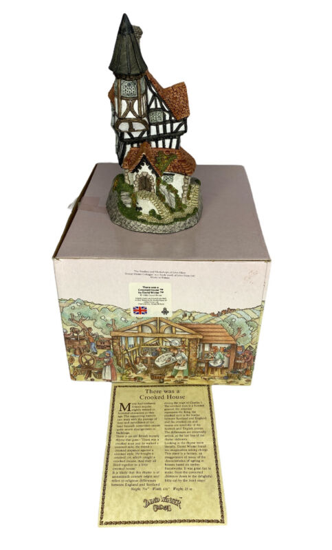David Winter Crooked House Cottages Hand Made Painted John Hine Britain 1986