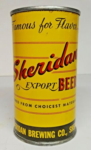 Sheridan Export Beer Flat Top Can - USBC 133-02 Beautiful Can