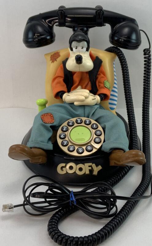 Vintage Telemania Disney Animated Talking Sleeping Goofy Telephone Repair