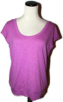 NWT ANN TAYLOR LOFT Orchid Scoop Neck Dolman Sleeve Banded Cotton T Shirt S Dolman Sleeve Cotton