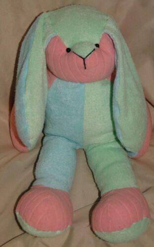 "Vintage Terry Cloth Bunny Rabbit Plush Stuffed 15"" Eden ? Dandee ? Carters ?"