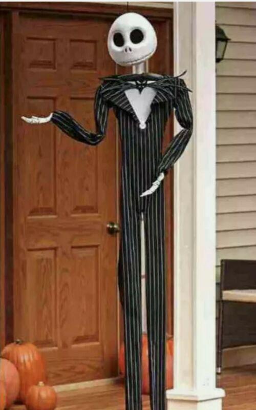 Nightmare Before Christmas JACK SKELLINGTON 6Ft Poseable Hanging Halloween Decor