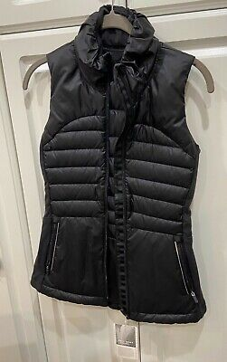 Lululemon Down For A Run Vest II 100% Down Goose Black Size SMALL NWT