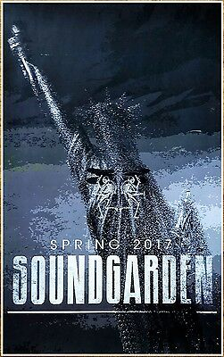SOUNDGARDEN 2017 Spring Tour Ltd Ed New RARE Poster! CHRIS CORNELL Rock Grunge
