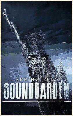 SOUNDGARDEN 2017 Spring Tour Ltd Ed New RARE Poster! CHRIS CORNELL Rock Grunge