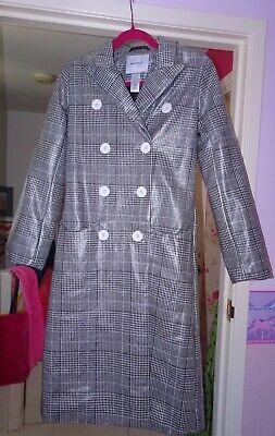House Of Sunny Long Tailored Nostalgia Plaid Trench Coat Size 6 BNWOT Designer
