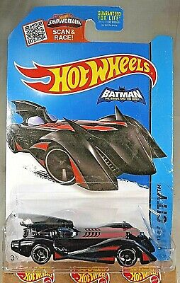 2015 Hot Wheels #63 HW City-Batman Brave & Bold BATMOBILE Black/Red Variant OH5s