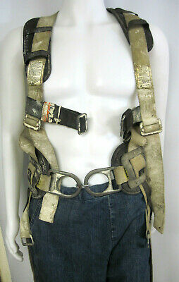 French Creek Fall Protection Safety Harness W Padded Lifting Belt - No Tool Belt