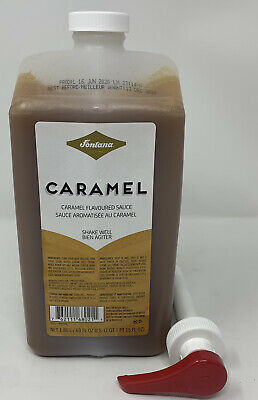 Fontana By Starbucks Caramel Sauce 63 Fl Oz. With PUMP Best Before 12/13/2020