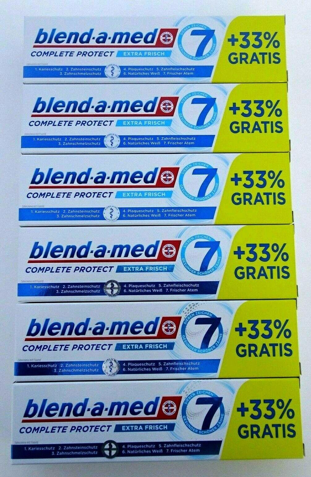 6x Blend-a-med Complete Protect 7 Zahncreme Zahnpasta Extra Frisch 6x 100ml