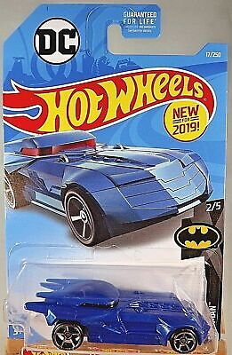 2019 Hot Wheels #17 DC Batman Series 2/5 BATMOBILE Blue w/OH 5 Spoke Wheels